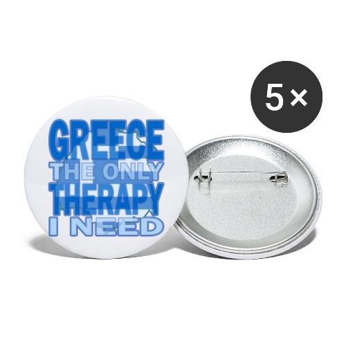GREECE the only therapy i need - Thassos / Thasos - Buttons groß 56 mm (5er Pack)