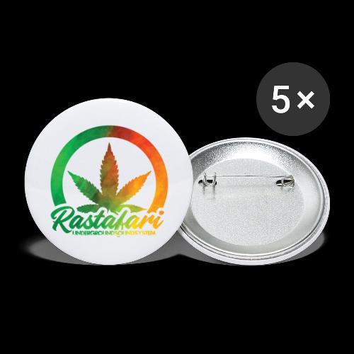 RASTAFARI UNDERGROUNDSOUNDSYSTEM - Buttons groß 56 mm (5er Pack)