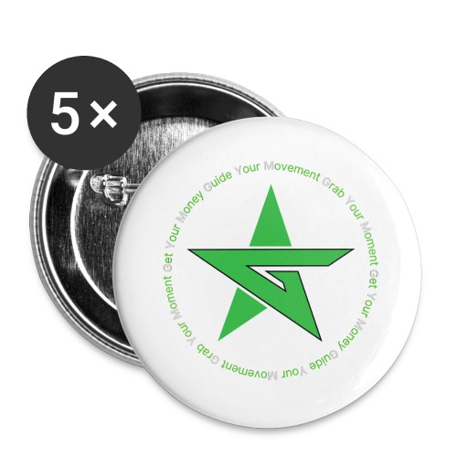 Money Time 2 - Buttons large 2.2''/56 mm(5-pack)