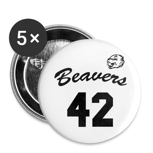 Beavers front - Buttons groot 56 mm (5-pack)