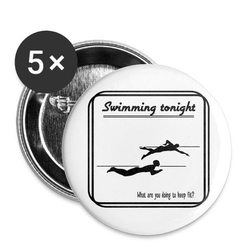 Swimming tonight - Rintamerkit isot 56 mm (5kpl pakkauksessa)