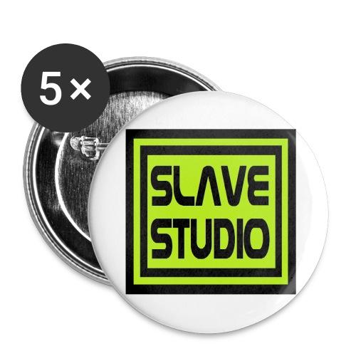 Slave Studio logo - Confezione da 5 spille grandi (56 mm)