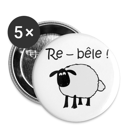 mouton-re-bele - Lot de 5 grands badges (56 mm)