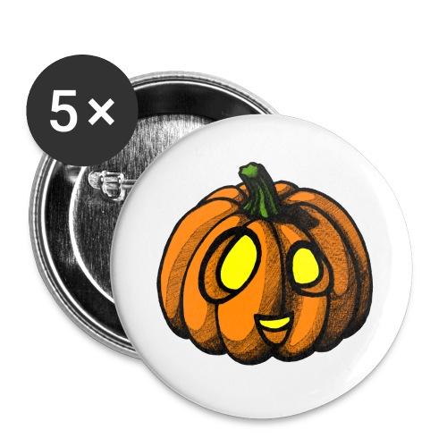 Pumpkin Halloween scribblesirii - Rintamerkit isot 56 mm (5kpl pakkauksessa)