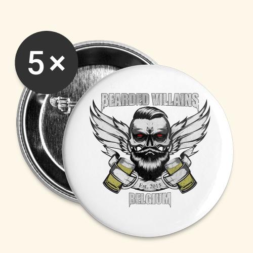Bearded Villains Belgium - Buttons large 2.2''/56 mm(5-pack)
