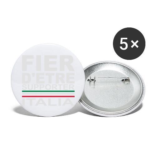 fier italia blanc - grand - Lot de 5 grands badges (56 mm)