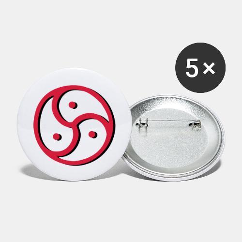 Triskelion - Triskele dual-color - Buttons groß 56 mm (5er Pack)