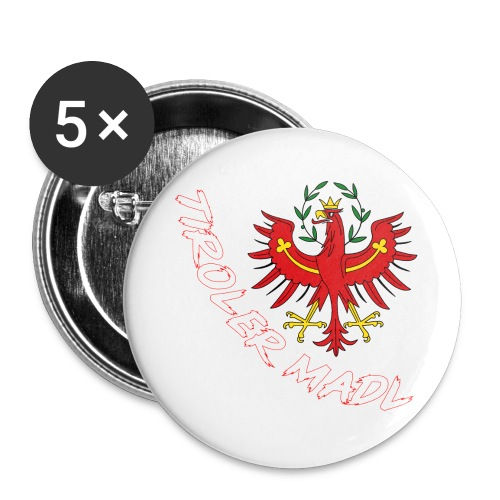 Tiroler Madl - Buttons groß 56 mm (5er Pack)