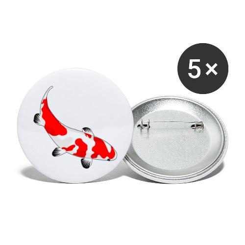 Koi - Buttons groß 56 mm (5er Pack)