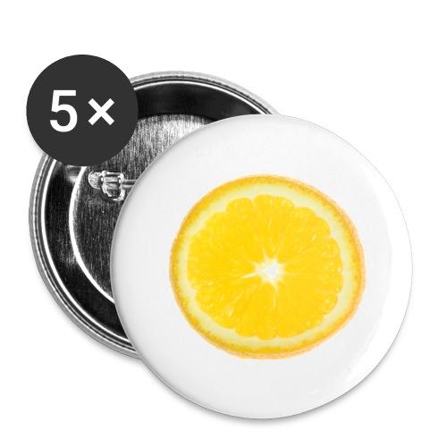Orange - Buttons groß 56 mm (5er Pack)