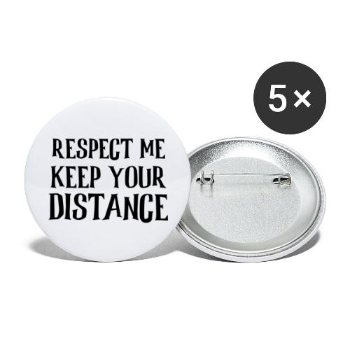 Keep Distance - Buttons/Badges stor, 56 mm (5-pack)