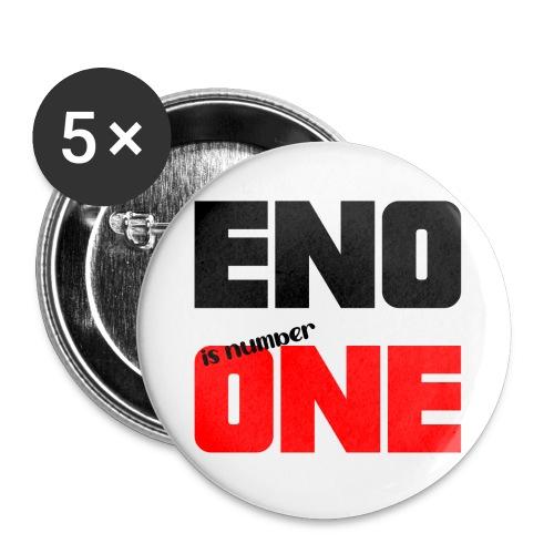 eno is number one - retro / musta - Rintamerkit isot 56 mm (5kpl pakkauksessa)