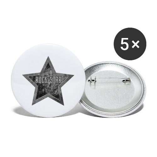 Rock Star - Buttons groot 56 mm (5-pack)