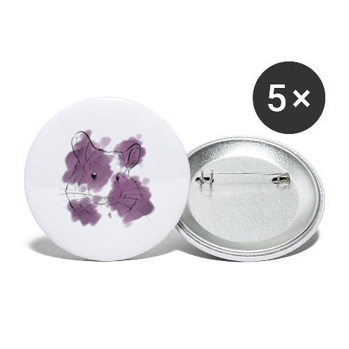 Violet splash chinchilla - Rintamerkit isot 56 mm (5kpl pakkauksessa)