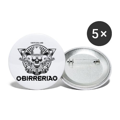 Sheriff Skull with Revolver - Buttons groß 56 mm (5er Pack)