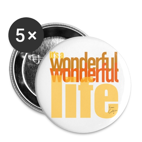It's a wonderful life beach colours - Buttons large 2.2''/56 mm(5-pack)