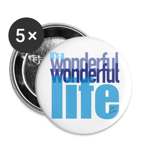 It's a wonderful life blues - Buttons large 2.2''/56 mm(5-pack)