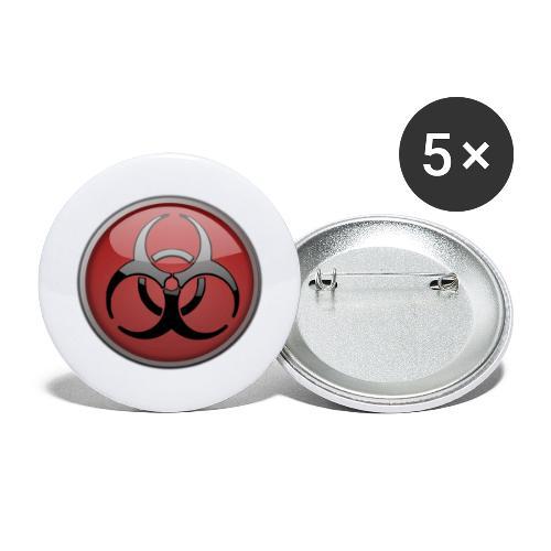 DANGER BIOHAZARD - Buttons groß 56 mm (5er Pack)