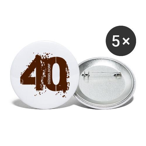 City_40_Düsseldorf - Buttons groß 56 mm (5er Pack)