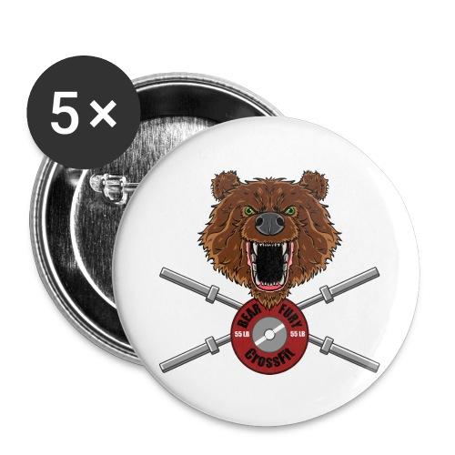 Bear Fury Crossfit - Lot de 5 grands badges (56 mm)