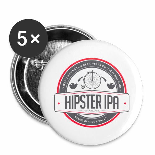 Hipster IPA - Buttons large 2.2''/56 mm(5-pack)