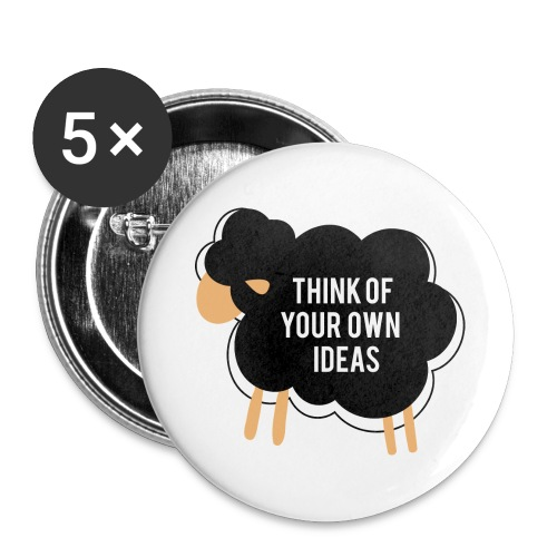 Think of your own idea! - Buttons large 2.2''/56 mm(5-pack)