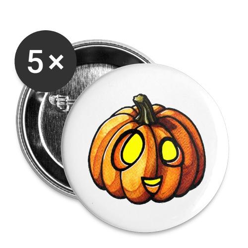 Pumpkin Halloween watercolor scribblesirii - Rintamerkit isot 56 mm (5kpl pakkauksessa)