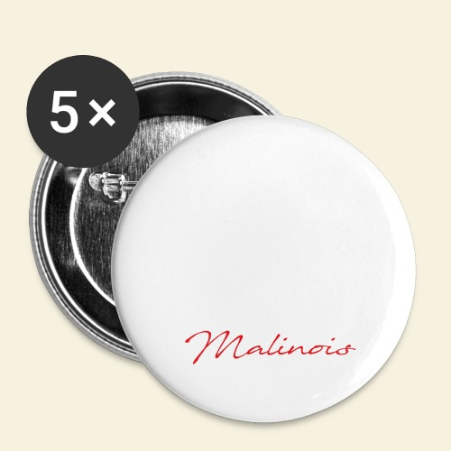 IGP Malinois - Buttons groß 56 mm (5er Pack)