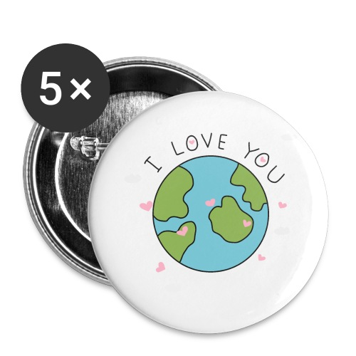 iloveyou - Confezione da 5 spille grandi (56 mm)