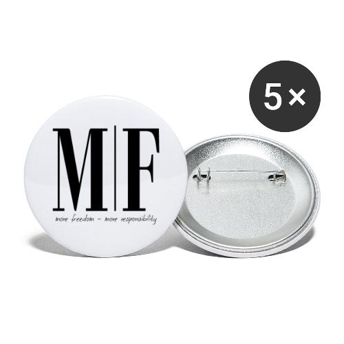 MORE FREEDOM - Buttons groß 56 mm (5er Pack)