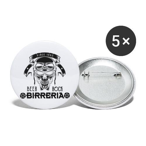 Classic Birreria Rock Skull - Buttons groß 56 mm (5er Pack)