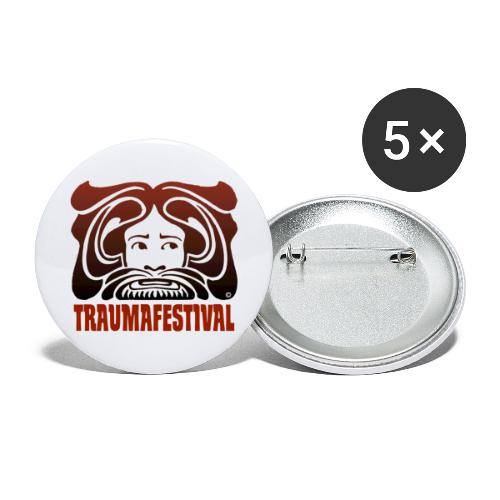 TRAUMA#001 © 2021 - Buttons groot 56 mm (5-pack)