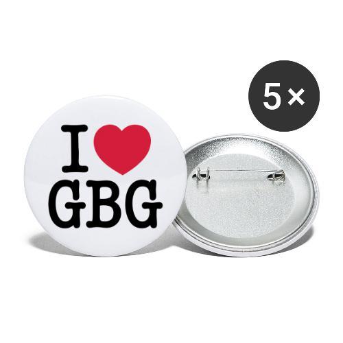 I love GBG - Stora knappar 56 mm (5-pack)