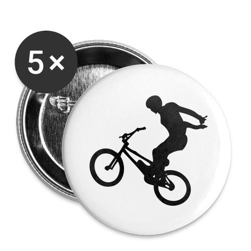 No Hand - Lot de 5 grands badges (56 mm)