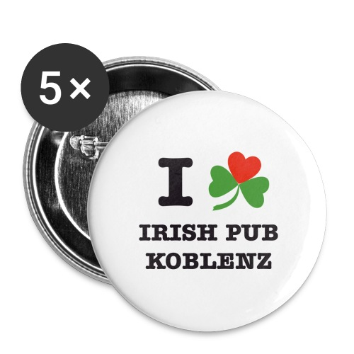 i love irish pub ko - Buttons groß 56 mm (5er Pack)