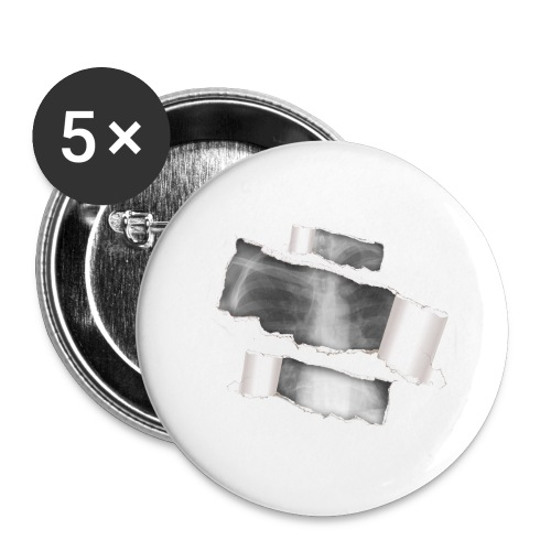 Chest X-Ray - Confezione da 5 spille grandi (56 mm)