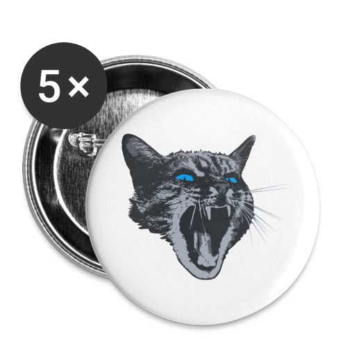 Really angry kitty cat - Buttons large 2.2''/56 mm(5-pack)