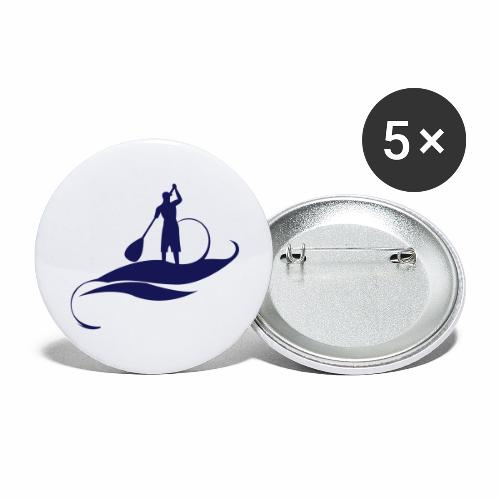Paddle Man - Lot de 5 grands badges (56 mm)