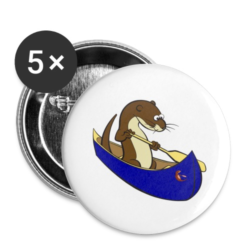 bluecanoewithsticker - Buttons large 2.2''/56 mm (5-pack)