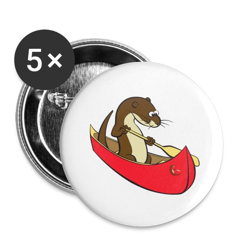 redcanoewithsticker - Buttons large 2.2''/56 mm (5-pack)
