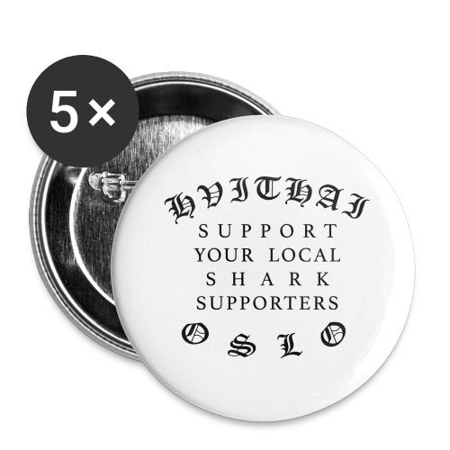 SUPPORTYOURLOCAL - Stor pin 56 mm (5-er pakke)