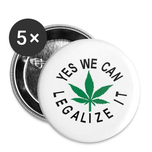 hanfblatt legalize it - Buttons groß 56 mm (5er Pack)