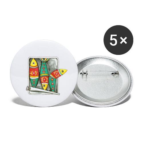 Les sardines du Portugal - Lot de 5 grands badges (56 mm)