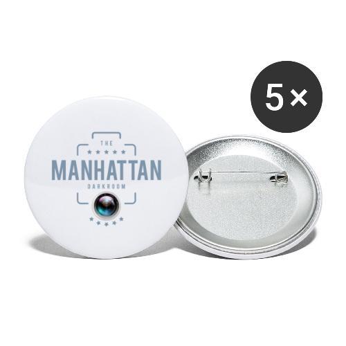 MANHATTAN DARKROOM VINTAGE - Lot de 5 grands badges (56 mm)