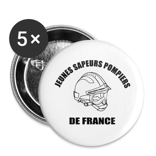 Jeunes Sapeurs Pompiers de France - Lot de 5 grands badges (56 mm)
