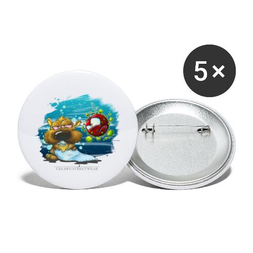 stay cool - and keep chasing toiletpaper - Buttons groß 56 mm (5er Pack)