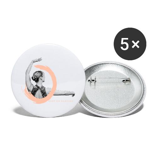 Keep on Dancing - Buttons groß 56 mm (5er Pack)