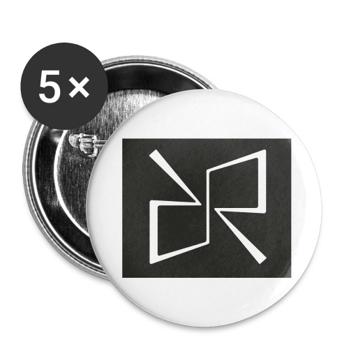 Rymdreglage logotype (RR) - Buttons large 2.2''/56 mm(5-pack)