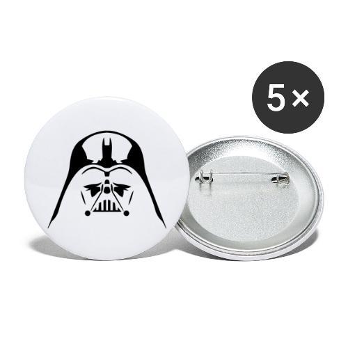 Dark-vador - Lot de 5 grands badges (56 mm)