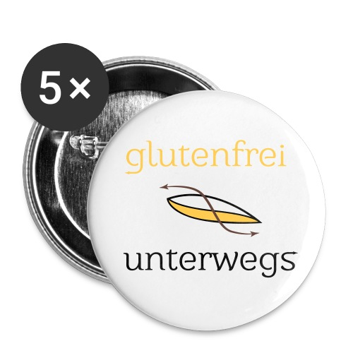 glufu quadrat - Buttons groß 56 mm (5er Pack)